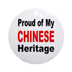 Proud Chinese Heritage Ornament (Round)