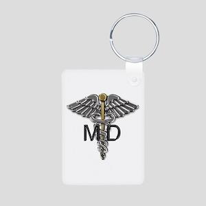 MD Symbol Aluminum Photo Keychain