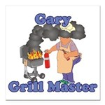 Grill Master Gary Square Car Magnet 3