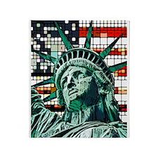 Patriotic Statue of Liberty Throw Blanket