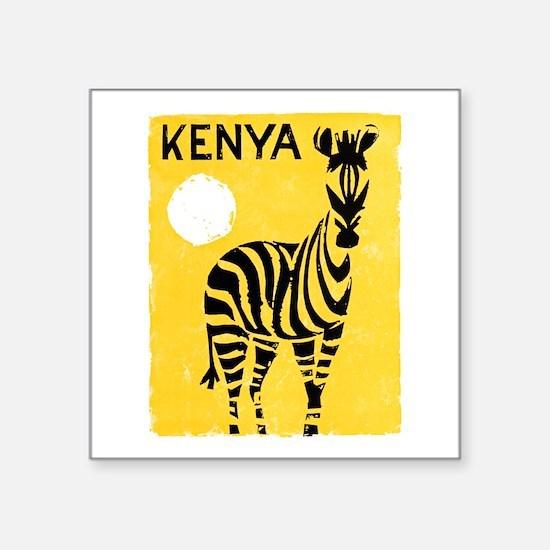 "Kenya Travel Poster 1 Square Sticker 3"" x 3"""