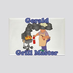 Grill Master Gerald Rectangle Magnet