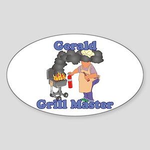 Grill Master Gerald Sticker (Oval)