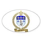 GUEGUEN Family Crest Oval Sticker