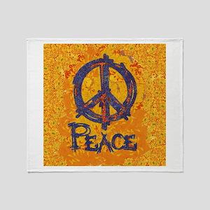 Gustav Klimt Peace Throw Blanket