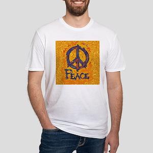 Gustav Klimt Peace Fitted T-Shirt