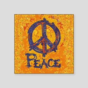 "Gustav Klimt Peace Square Sticker 3"" x 3"""