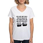 Spot me maybe Women's V-Neck T-Shirt
