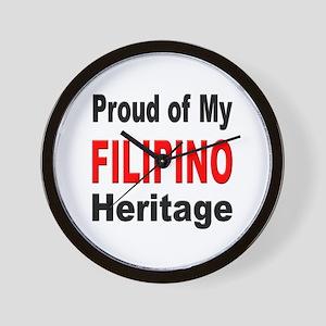 Proud Filipino Heritage Wall Clock