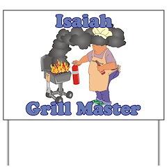 Grill Master Isaiah Yard Sign