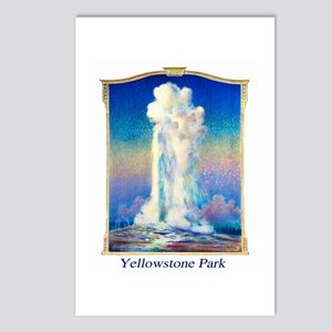 Yellowstone Travel Poster 1 Postcards (Package of