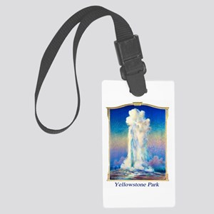 Yellowstone Travel Poster 1 Large Luggage Tag