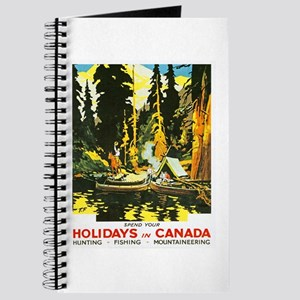 Canada Travel Poster 9 Journal