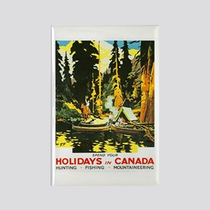 Canada Travel Poster 9 Rectangle Magnet