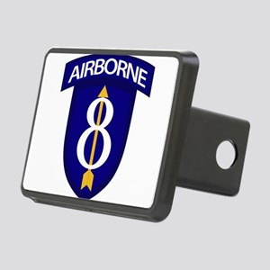 8th Infantry Airborne Rectangular Hitch Cover