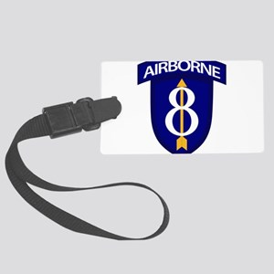 8th Infantry Airborne Large Luggage Tag