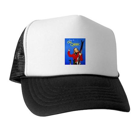 Quebec Travel Poster 1 Trucker Hat