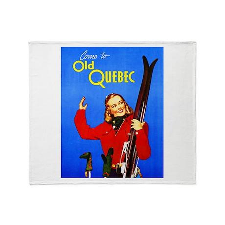 Quebec Travel Poster 1 Throw Blanket