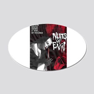 Nuns of Evil 20x12 Oval Wall Decal