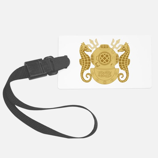 Navy Diving Officer Luggage Tag