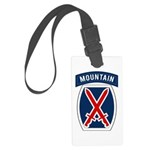 10th Mountain Large Luggage Tag