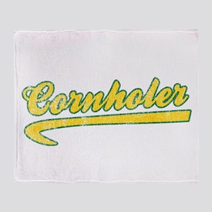 Cornholer Throw Blanket