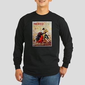 Mexico Travel Poster 2 Long Sleeve Dark T-Shirt
