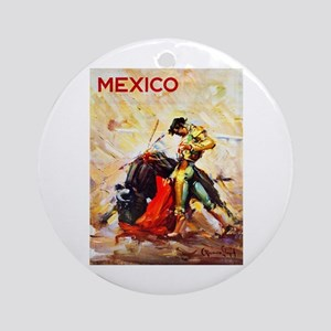 Mexico Travel Poster 2 Ornament (Round)