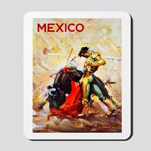 Mexico Travel Poster 2 Mousepad