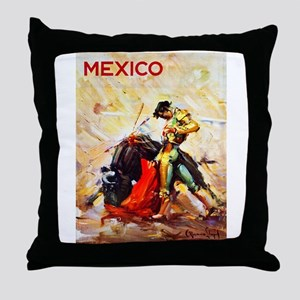 Mexico Travel Poster 2 Throw Pillow