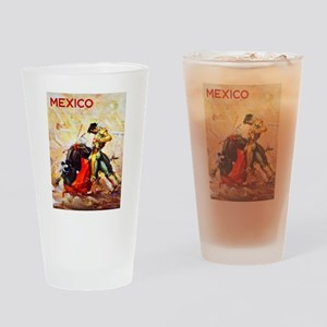 Mexico Travel Poster 2 Drinking Glass