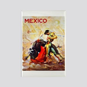 Mexico Travel Poster 2 Rectangle Magnet