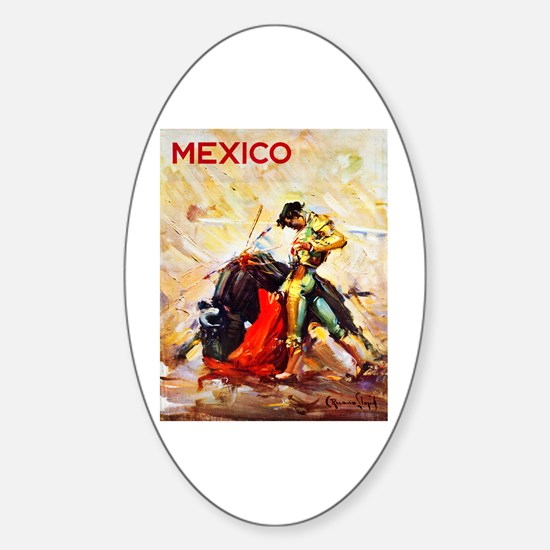 Mexico Travel Poster 2 Sticker (Oval)