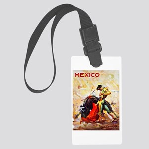 Mexico Travel Poster 2 Large Luggage Tag