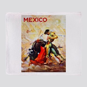 Mexico Travel Poster 2 Throw Blanket