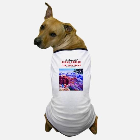 Utah Travel Poster 1 Dog T-Shirt