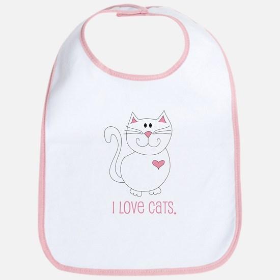 I Love Cats Bib