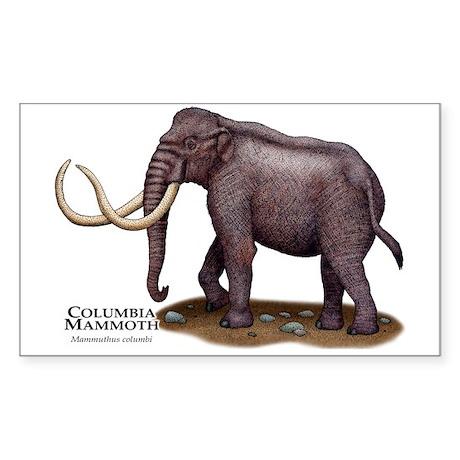 Columbia Mammoth Sticker (Rectangle)