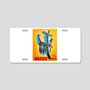 Mexico Travel Poster 10 Aluminum License Plate