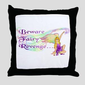 Fairy Revenge Throw Pillow