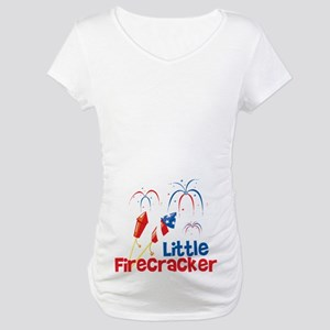 4th of July Little Firecracker Maternity T-Shirt