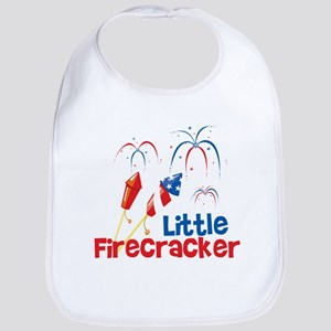 4th of July Little Firecracker Bib