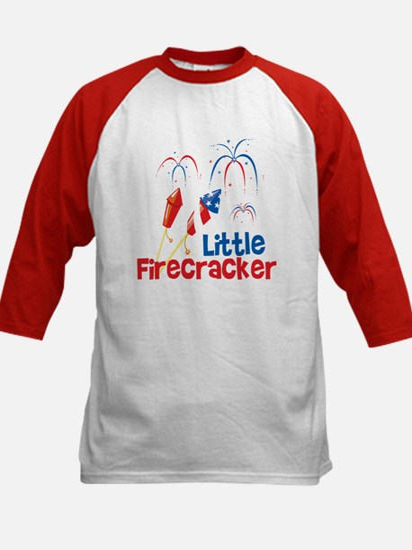 4th of July Little Firecracker Kids Baseball Jerse