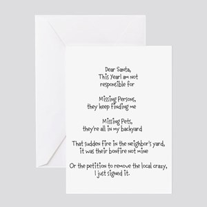 Dear Santa adult Greeting Card