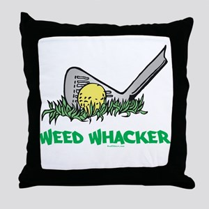 Weed Whacker Sports Throw Pillow