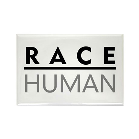 Race Human Rectangle Magnet (10 pack)