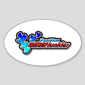 MotoGPJunkies Logo Sticker (Oval)