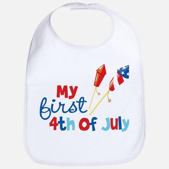 Firecrackers My First 4th of July Bib