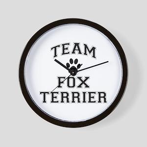Team Fox Terrier Wall Clock