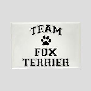 Team Fox Terrier Rectangle Magnet